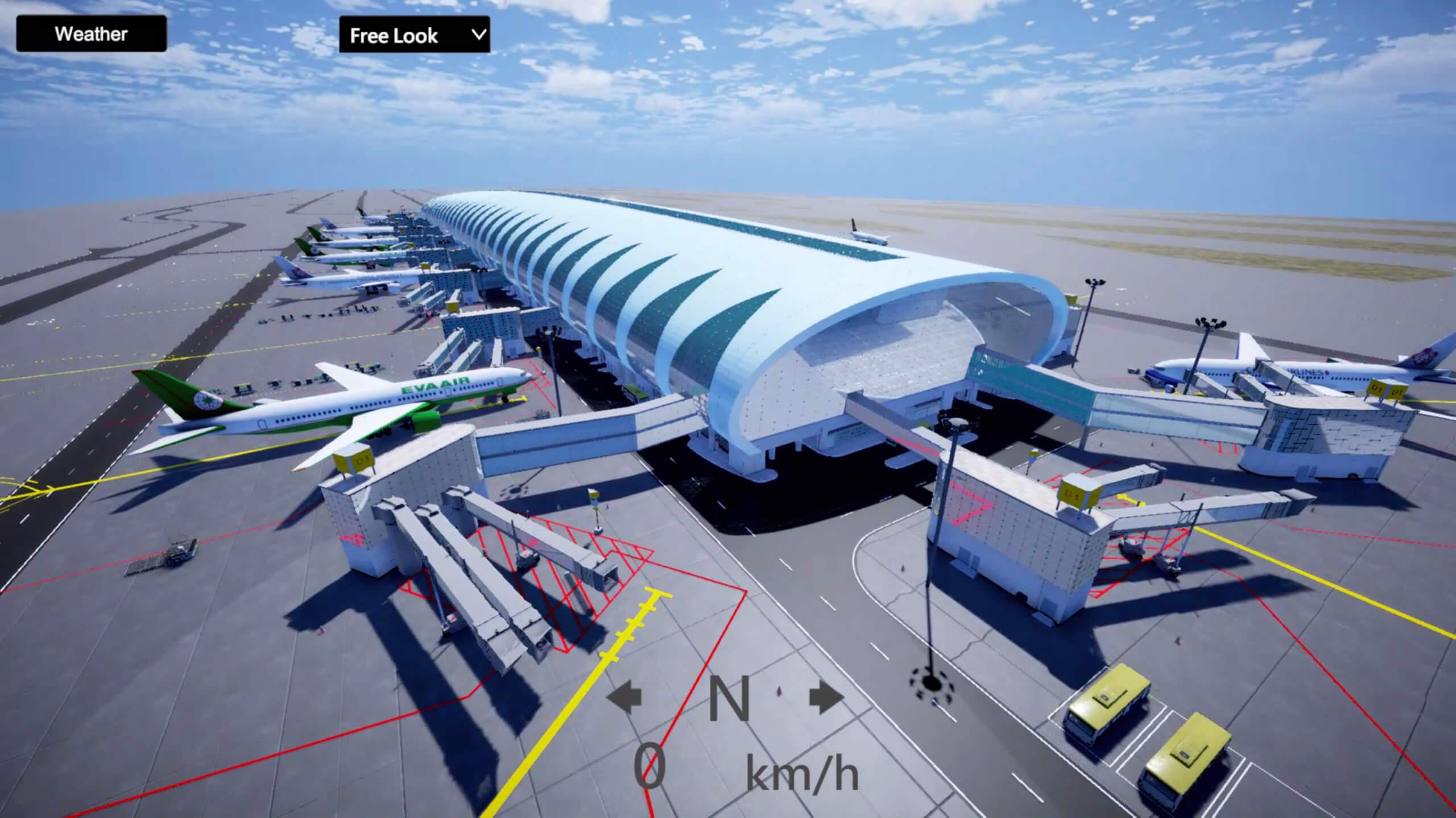 智慧交通-機場空側模擬訓練